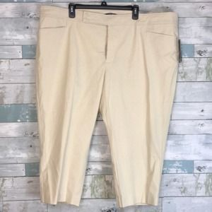 Chaps tan crop pants NWT sz 24               0214